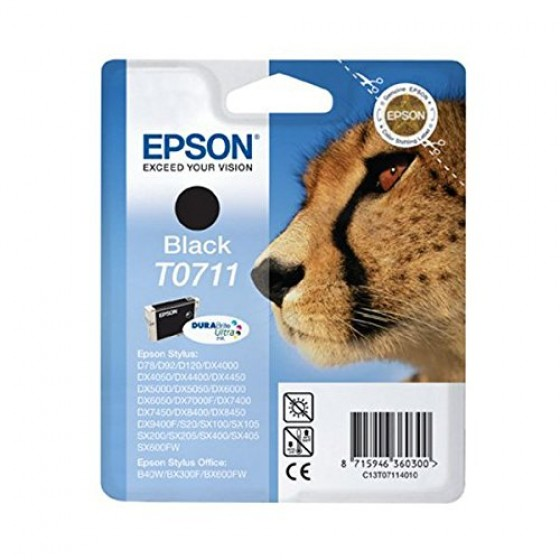 Originalna tinta Epson T0711 Bk 7.4 ml