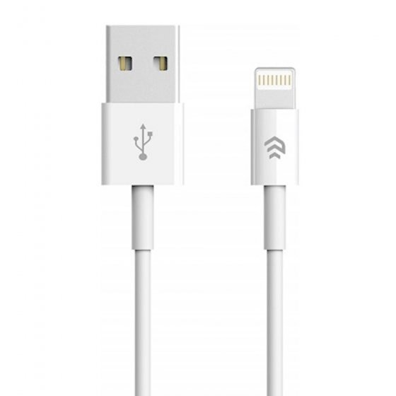 Cable DEVIA iPhone iOS8 8-pin white