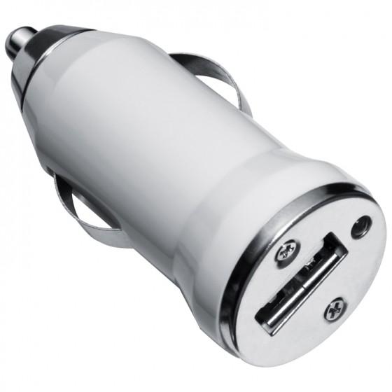 PUNJAČ USB za automobil univerzalni bijeli